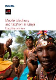 Mobile telephony and taxation in Kenya executive summary - GSMA