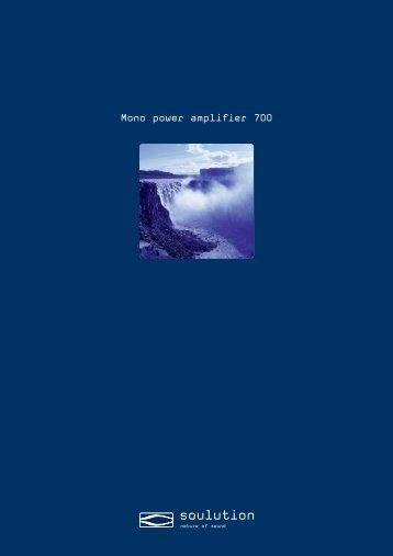 Mono power amplifier 700 - Goodwin's High End