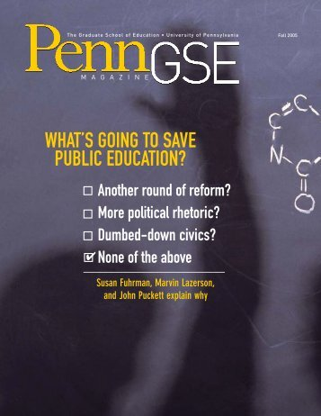 C1 Cover_W06.qxd - Penn GSE - University of Pennsylvania