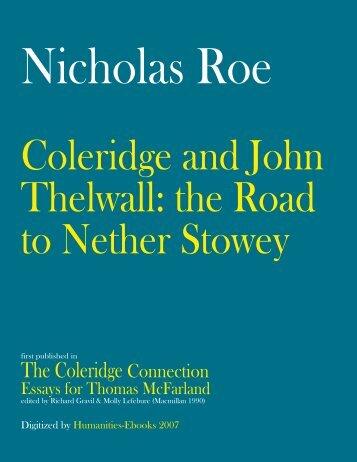 The Coleridge Connection - Humanities-Ebooks