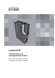 System LAMBDA 65 M Türen - HUECK + RICHTER Aluminium GmbH