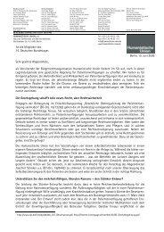 Offener Brief an die Abgeordneten (PDF) - Humanistische Union