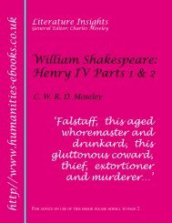 Shakespeare: Henry IV Parts 1 and 2 - Humanities-Ebooks