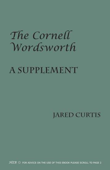 The Cornell Wordsworth - Humanities-Ebooks