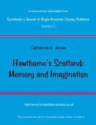 Hawthorne's Scotland: Memory and Imagination - Humanities-Ebooks