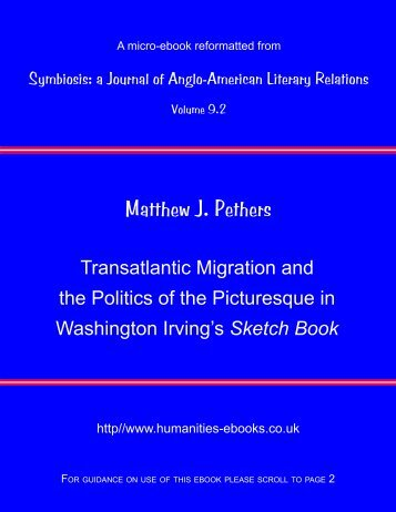 Transatlantic Migration and the Politics of the Picturesque in ...