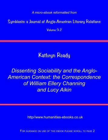 Dissenting Sociability and the Anglo-American Context - Humanities ...