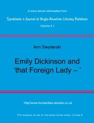 Dickinson and 'that Foreign Lady – ' - Humanities-Ebooks