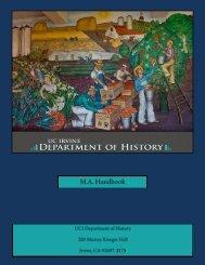 MA Program Handbook - School of Humanities