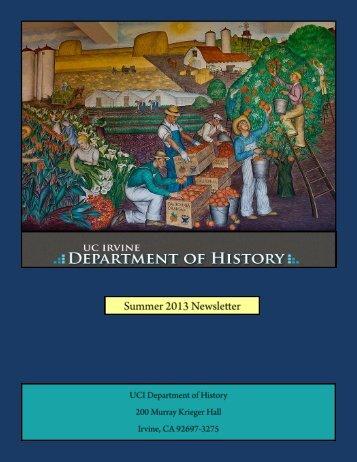 Department Newsletter - School of Humanities