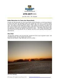 HTD-ZEITung Januar-Februar 2011 - Humanity's Team Deutschland ...