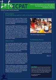 ECPAT Groups' Monthly Newsletter March 2007 - HumanTrafficking ...