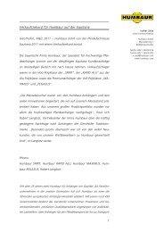 Verkaufsrekord für Humbaur auf der Equitana Gersthofen, März 2011