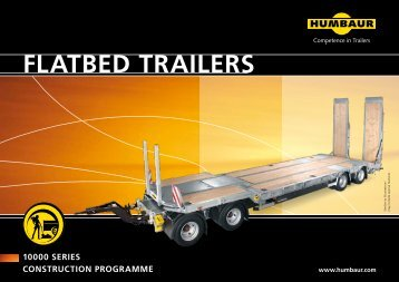 FLATBED TRAILERS - Humbaur