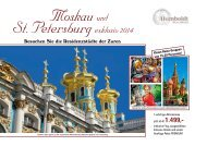 St. Petersburgexklusiv 2014 - Humboldt Studienreisen