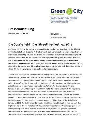 Das Streetlife-Festival 2012 - Green City eV