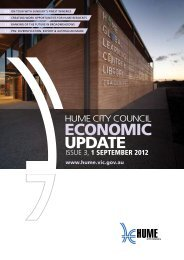 issue 3, 1 SEPTEMBER 2012 - Hume City Council