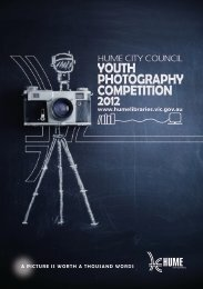 YOUTH PHOTOGRAPHY COMPETITION 2012 - Hume City Council