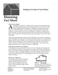 Sealing Air Leaks in Your Home - Cornell University
