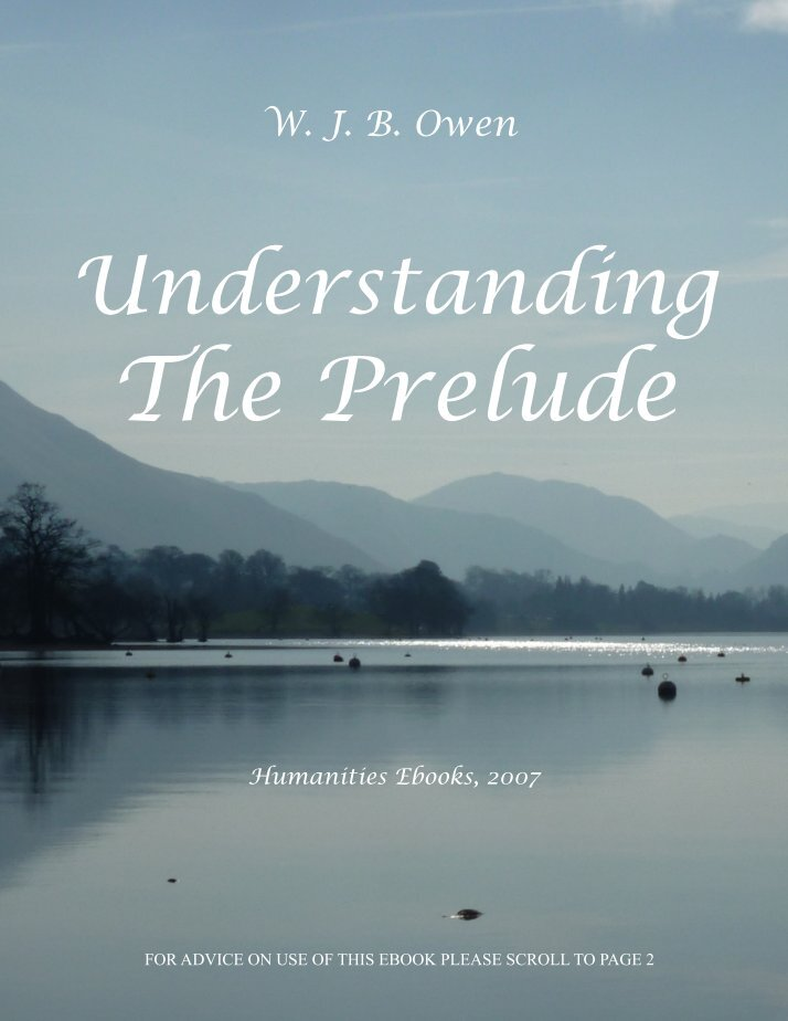 "the prelude essay A critical appreciation of from the prelude by william wordsworth a critical appreciation of ""from the prelude"" by william wordsworth essay sample get."