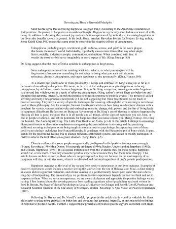 Savoring and Huna's Essential Principles Most people ... - Huna.org