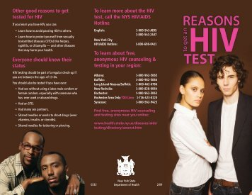 Reasons to get an HIV Test - New York State Department of Health