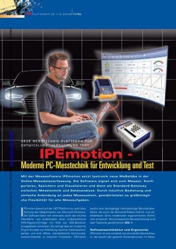 IPEmotion - - HANSER automotive