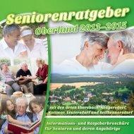 Seniorenratgeber Oberland 2013 - 2015
