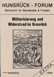 HUNSRUCK-FORUM - Friedens Initiative Hunsrück