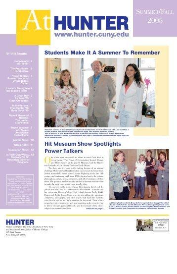Summer/Fall 2005 - Hunter College - CUNY