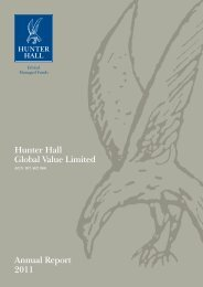 Hunter Hall Global Value Limited Annual Report 2011