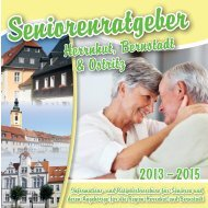 Seniorenratgeber Herrnhut, Bernstadt und Ostritz