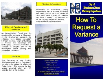 How to Request a Variance - City of Huntington Beach