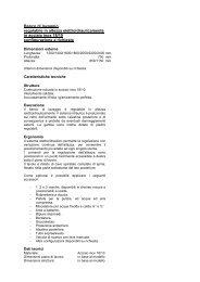 Scheda tecnica - HUPFER ITALIA SRL