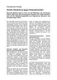 Craniosacrale Therapie Redaktioneller Beitrag - Gsundheits-Praxis