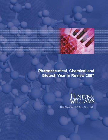 Pharmaceutical, Chemical and Biotech Year in Review 2007
