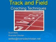 Track and Field Coaching Techniques - HurdleCentral.com