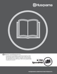 OM, K750 SPEEDMILL, 2007-10, POWERCUTTERS - Husqvarna