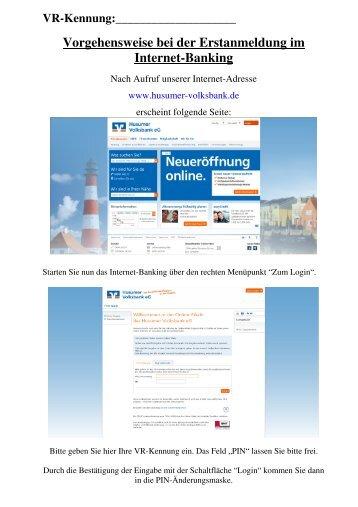VRK - Mobile-TAN - Erstanmeldung - Husumer Volksbank eG