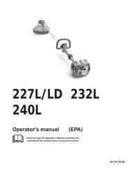 OM, 227 L, 227 LD, 232 L, 240 L, 2001-11 - Husqvarna