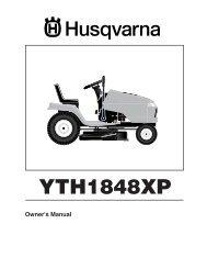 OM, YTH1848 XP, HAU18H48J, 2004-11 - Husqvarna