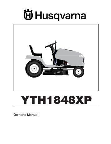 om yth1848 xp hau18h48a 2004 01 husqvarna rh yumpu com husqvarna yth1848xp owners manual husqvarna riding mower manual yth1848xp
