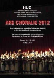 Ars Choralis 2012 Croatian Choral Conductors Association