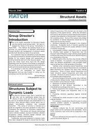 Structural Assets Newsletter #8, March 2000 [pdf, 34 KB] - Hatch