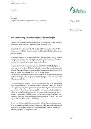 Arealfordeling - Baunevangens Ældreboliger - Hvidovre Kommune