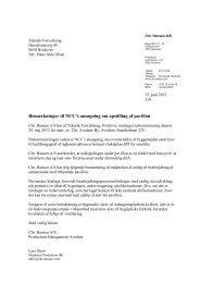 Chr. Hansen A/S´s høringssvar af 15. juni 2012