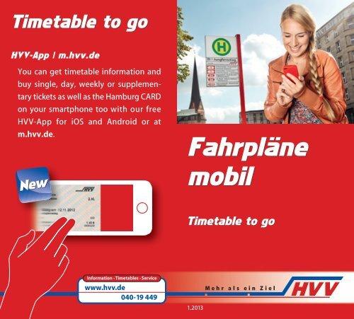 Fahrpläne mobil Fahrpläne mobil - HVV