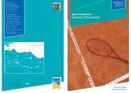 Centre for Sport & Exercise information leaflet - Heriot-Watt University