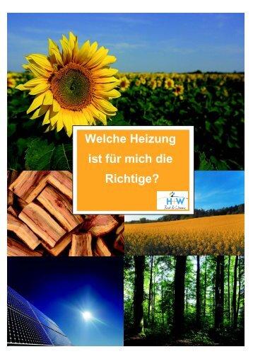 Welche Heizung ist für mich die Richtige? - HW Heizungsbau GmbH ...