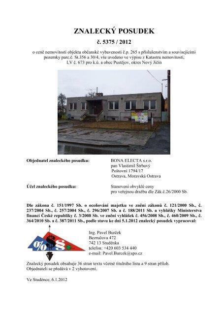 Obecná cena oceňovaného souboru movitých věcí ... - Sreality.cz
